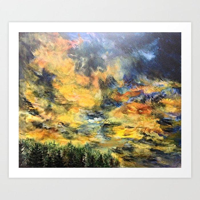 Remembering Baguio's 182 Pine Trees Art Print