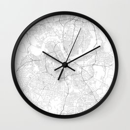 Nashville, United States Minimalist Map Wall Clock