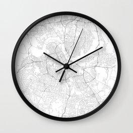 Nashville, United States Minimalist Map Wall Clock