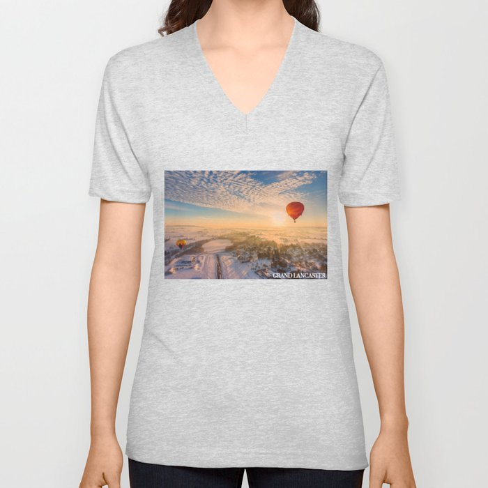 Floating Sunrise Unisex V-Neck