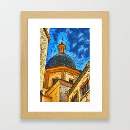 Church in Burriana Framed Art Print