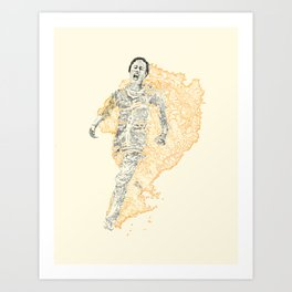 Burning Angel Art Print