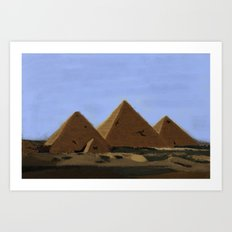 Egyptian Pyramids Art Print