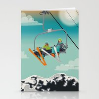 ski Stationery Cards featuring Ski Lift by Park City Posters