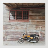 motorbike Canvas Prints featuring Motorbike by Mandy Andree