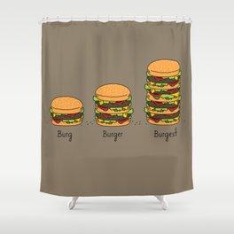 Burger explained. Burg. Burger. Burgest. Shower Curtain