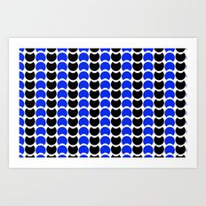 HobNob BlueBlack Print, Canvas and Laptop/iPad Skin Art Print