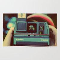 polaroid Area & Throw Rugs featuring polaroid by Angela Mia Photography