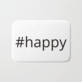 happy hashtag Bath Mat