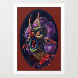 Witch Head Art Print