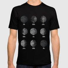The Death Star Moon phase. LARGE Mens Fitted Tee Black