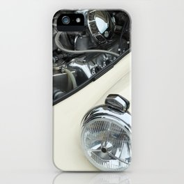 vintage white car - details iPhone Case