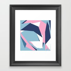Dow Map Pink Framed Art Print
