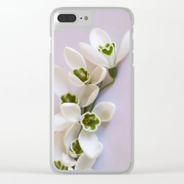 Snowdrops - First Spring Flowers Clear iPhone Case