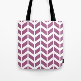 Dark pink and white chevron pattern Tote Bag