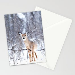 Deer In Snow Stationery Cards