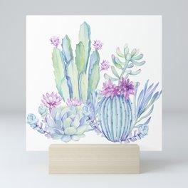 Mixed Cacti White #society6 #buyart Mini Art Print