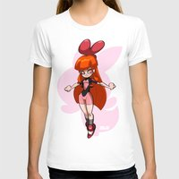 powerpuff girls T-shirts featuring Blossom - The Powerpuff Girls by zeoarts