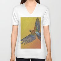 wildlife V-neck T-shirts featuring wildlife 1 by AstridJN
