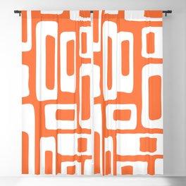 Retro Mid Century Modern Abstract Pattern 335 Orange Blackout Curtain