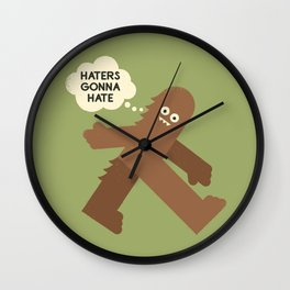 Bigfoot Has So Many Haters Wall Clock