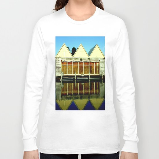 Reflections of an old boat Building! Long Sleeve T-shirt