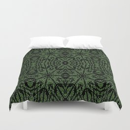 Forest Green Etch Duvet Cover