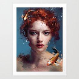 Koi Portrait Art Print
