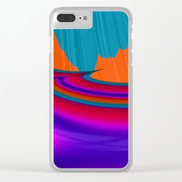 Two Mountain Peaks Abstract Art Clear iPhone Case