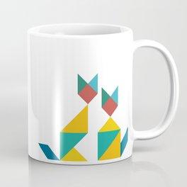 Tangram Cats 1 Coffee Mug