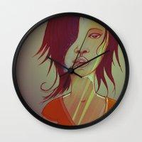smoking Wall Clocks featuring Smoking by IOSQ