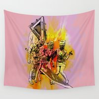 silent Wall Tapestries featuring Silent Thrill by Geekleetist