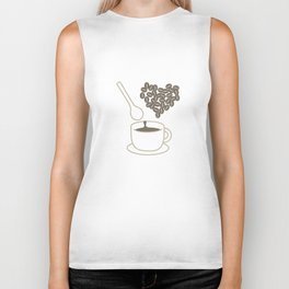 I love coffee Biker Tank