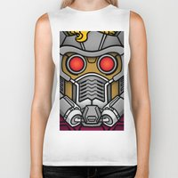 star lord Biker Tanks featuring Star Lord by Ryan the Foe