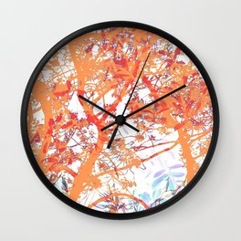 Orange Trees Wall Clock