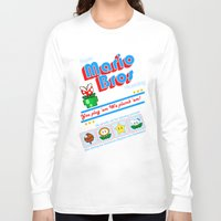 mario bros Long Sleeve T-shirts featuring Super Mario Bros Plumbing by brit eddy
