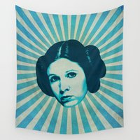 leia Wall Tapestries featuring Leia by Durro