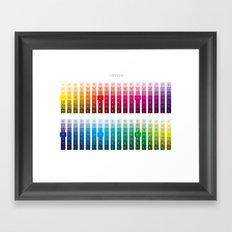Color Grid Framed Art Print
