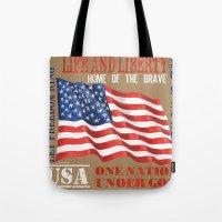 patriotic Tote Bags featuring Vintage Patriotic by Debbie DeWitt
