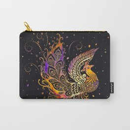 Colorful Glow Phoenix Bird Carry-All Pouch