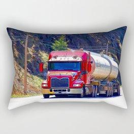 Truckers Big Rig Fuel Tanker Truck Rectangular Pillow