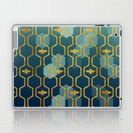 golden gometric bee pattern Laptop & iPad Skin