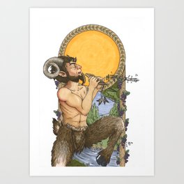 The God Pan Art Print