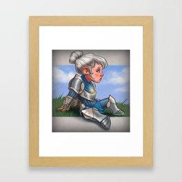 Lonely Pike Framed Art Print