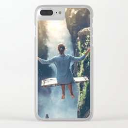 She Believes (Color) Clear iPhone Case