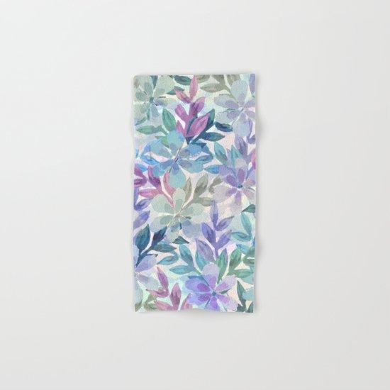 watercolor Botanical garden Hand & Bath Towel