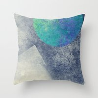 the moon Throw Pillows featuring moon by Claudia Drossert