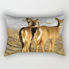 WHITE TAIL DEER (2 OF 3) - THREE IN THE SPRINGTIME Rectangular Pillow