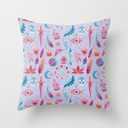 Magic watercolor Throw Pillow