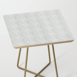 White Apophyllite Close-Up Crystal Side Table